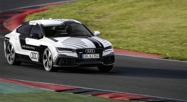 Une Audi RS 7 autonome sur le circuit d'Hockenheimring