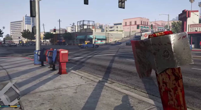 Grand Theft Auto V First Person Mode Is Ridiculously Violent