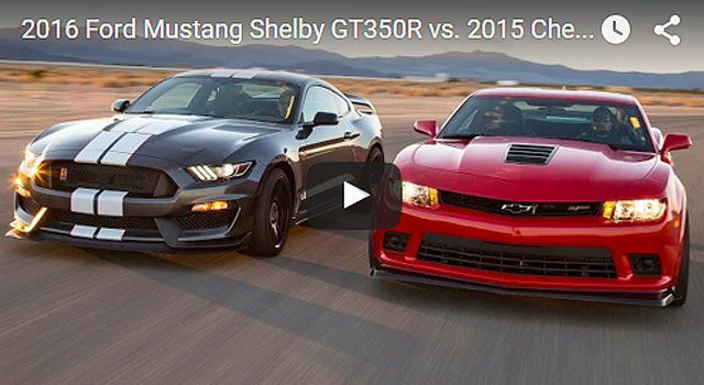 2016 Ford Mustang Shelby GT350R vs. 2015 Chevrolet Camaro Z/28