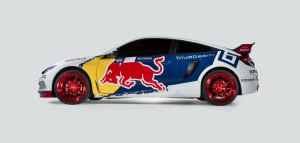 Debut of racing livery for new Civic Coupe Red Bull Global Rallcross racecar in New York