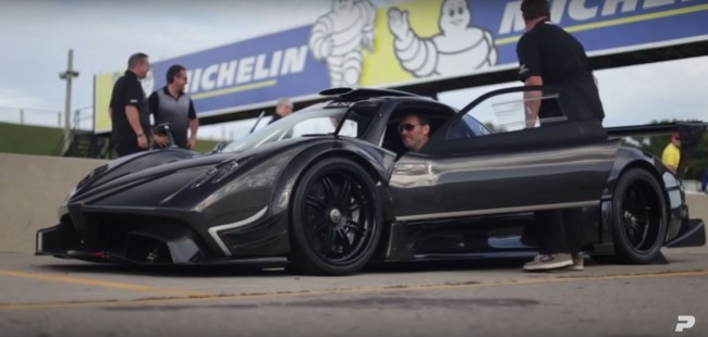 PFAFF Automotive et la Pagani Zonda R sur le circuit CTMP