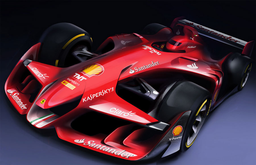 ferrari releases new f1 concept. Black Bedroom Furniture Sets. Home Design Ideas