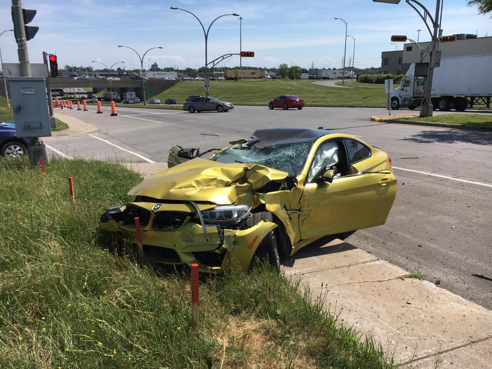 Bmw M4 Killed By Truck In Laval